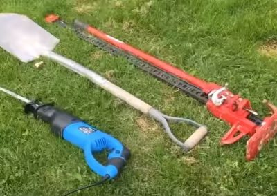 image of tree stump removal tools in Evanston IL